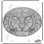 Mandala Kleurplaten - Mandala Leeuw