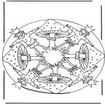 Allerlei Kleurplaten - Mandala met Paddestoel 1