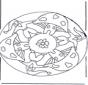 Mandala met Paddestoel 2