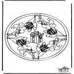Mandala Kleurplaten - Mandala muis 2