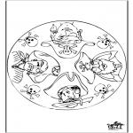 Mandala Kleurplaten - Mandala piraat