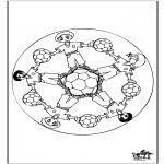 Mandala Kleurplaten - Mandala voetbal 1