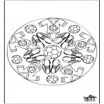Mandala Kleurplaten - Mandala voetbal 2