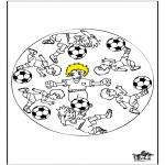 Mandala Kleurplaten - Mandala voetbal 3