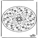 Mandala Kleurplaten - Mandala vogels