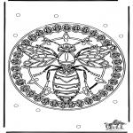 Mandala Kleurplaten - Mandala wesp