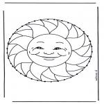 Knutselen Borduurkaarten - Mandala Zomer