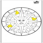 Mandala Kleurplaten - Mandala zon