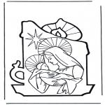 Kleurplaten Bijbel - Maria en Jezus 2