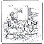 Kleurplaten Bijbel - Maria en Martha 1