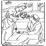 Kleurplaten Bijbel - Maria en Martha 2