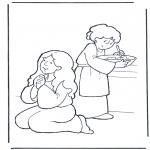 Kleurplaten Bijbel - Martha en Maria
