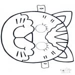 Knutselen - Masker Kat