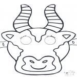 Knutselen - Masker Koe 1