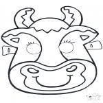 Knutselen - Masker Koe 2