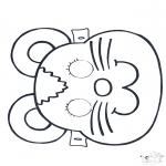 Knutselen - Masker Muis