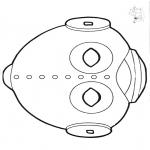 Knutselen - Masker ufo