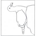 Kleurplaten dieren - Meeuw op steen