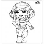 Kinderkleurplaten - Meisje 3