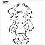 Kinderkleurplaten - Meisje 4