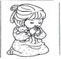 Meisje bidt