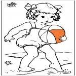 Allerlei Kleurplaten - Meisje bij de zee