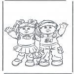 Kinderkleurplaten - Meisje en jongen