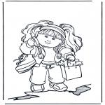 Kinderkleurplaten - Meisje kleurplaat