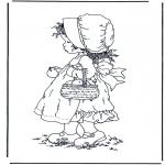 Allerlei Kleurplaten - Meisje met appels