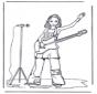 Meisje met gitaar