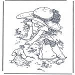 Allerlei Kleurplaten - Meisje met hondje