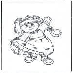 Kinderkleurplaten - Meisje met jurk