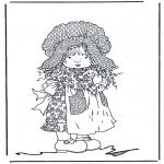 Allerlei Kleurplaten - Meisje met katje