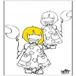 Kinderkleurplaten - Meisjes 1
