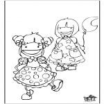 Kinderkleurplaten - Meisjes 2
