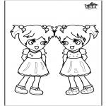 Kinderkleurplaten - Meisjes 3