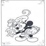 Stripfiguren Kleurplaten - Mickey en aap