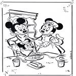 Stripfiguren Kleurplaten - Mickey en Minnie