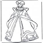Allerlei Kleurplaten - Middeleeuwse kleding