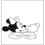 Stripfiguren Kleurplaten - Minnie als baby