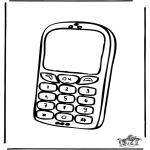 Allerlei Kleurplaten - Mobiele telefoon