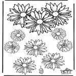 Knutselen - Mobile bloemen