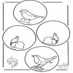 Knutselen - Mobile dieren