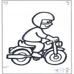 Allerlei Kleurplaten - Motorrijder