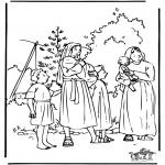 Kleurplaten Bijbel - Mozes 1