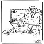 Kleurplaten Bijbel - Mozes 3