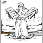 Kleurplaten Bijbel - Mozes 4