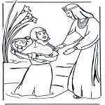 Kleurplaten Bijbel - Mozes Bijbelkleurplaat