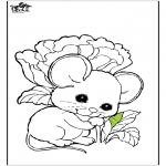 Kleurplaten Dieren - Muis 1