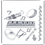 Allerlei Kleurplaten - Muziekinstrumenten